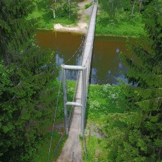 Swinging Bridge in Mikeriai