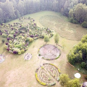 The Park of Energetic labyrinths and Geometric shapes