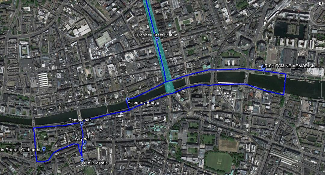 Dublin old town walk