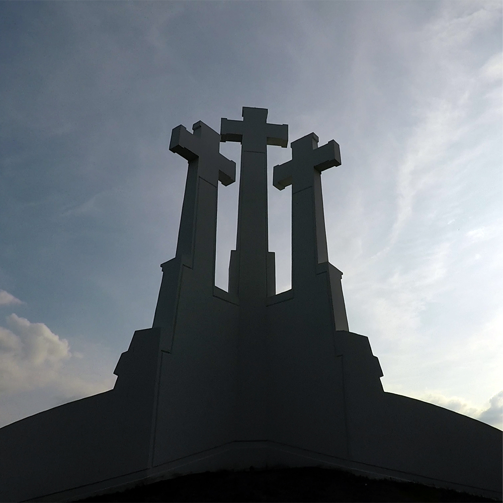 Three crosses monument