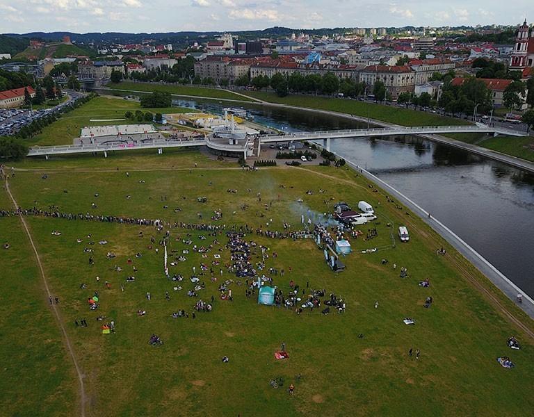 White Bridge in Vilnius