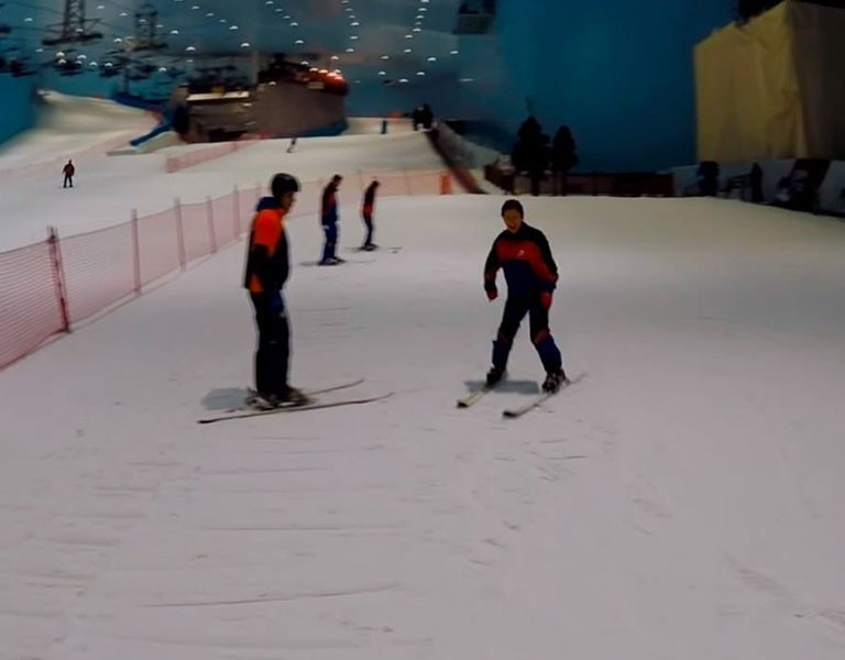An indoor ski resort in the Middle East