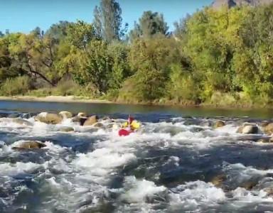 Kayaking on the Kern River, California